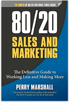 """Cover of the book """"80/20 Sales and Marketing"""""""