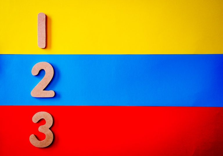 Three colored bands numbered 1, 2, and 3, representing three-tiered pricing for services