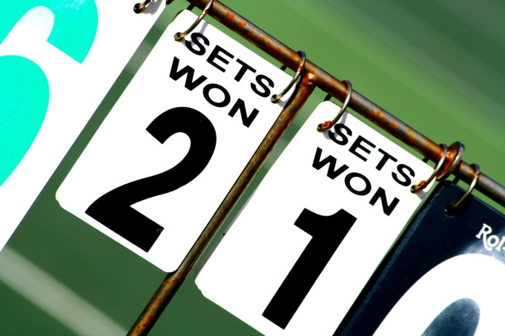 Tennis match score representing key questions you must get right about your business.